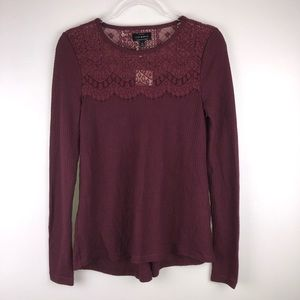 Lucky Brand Lace Thermal Top XS S3709